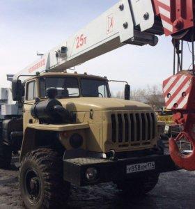 Автокран Урал Челябинец 25