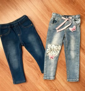 Утеплённые джинсы для девочки