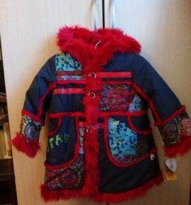 Пальто меховое для девочки