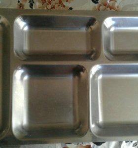 Нержавеющие подносовые тарелки