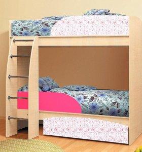 детская кровать 2-х ярусная