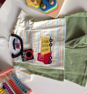 Комплект для мальчика. Шорты +футболка.