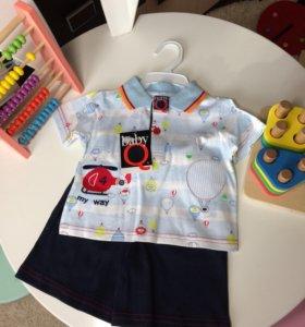 Новый Комплект для мальчика. Футболка +шорты.