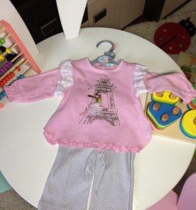 Новый Комплект для девочки. Кофта + штанишки.