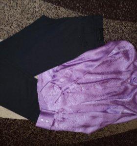 Рубашка +новые брюки 44-46