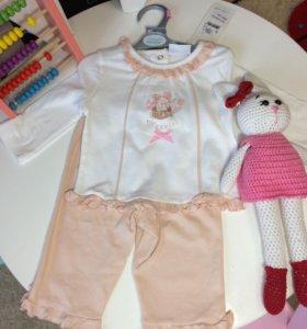 Новый Комплект для девочки. Кофта +штанишки.