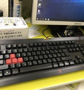 Мышь клавиатура наушники bloody