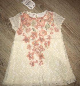 Новое платье Zara 80-90 см