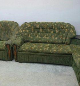 Угловой диван с креслом-кроватью