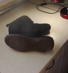 мужские замшевые привозные ботинки экко 41 размера