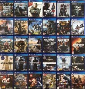 PS4 Игры-Dishonored2,Mafia3,GTA5,Ведьмак3,Bloodbor