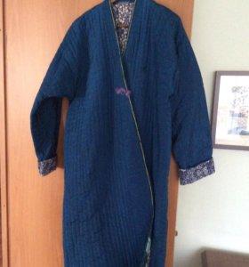 Узбекский халат синий