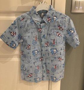 новая рубашка 116-122