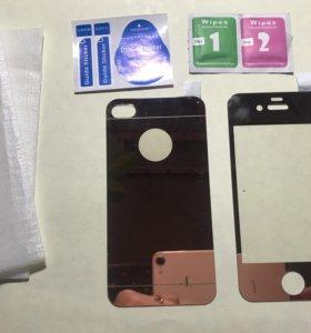 Защитное стекло на айфон 4s