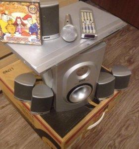 Домашний кинотеатр 5.1 с караоке и радио