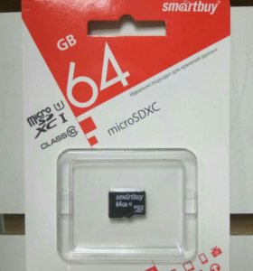 Карта памяти Micro SD 64Gb Smart Buy класс10