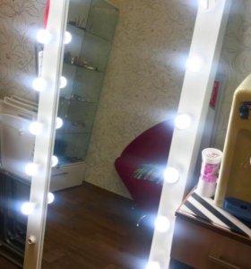 Зеркало напольное с подсветкой