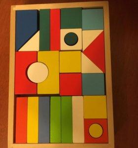 Деревянный конструктор,кубики