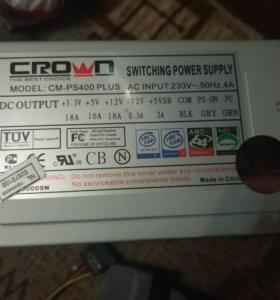 Блок питания Crown cm-ps 400 plus