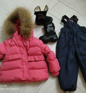 Куртки на девочку 1год-2,5года
