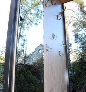 Вешалка с зеркалом в прихожую (Лофт)