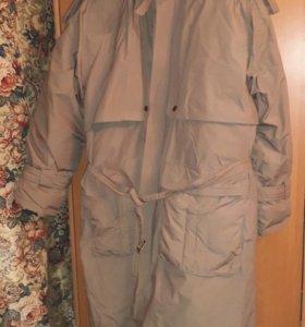 Пальто пуховик 56-58