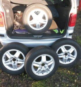 Колёса на Opel Zafira и Astra