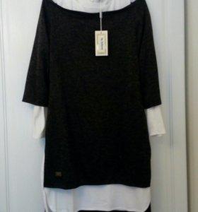 Новое платье-двойка р.48