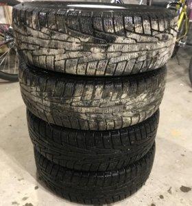 Зимние колёса на Акцент
