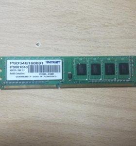 Patriot Signature PSD34G160081 4 гб DDR3 1600 мгц