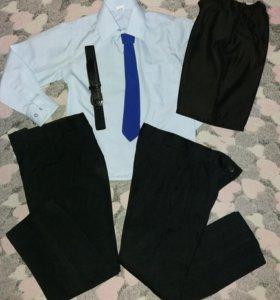 Брюки +рубашка+галстук+ремень