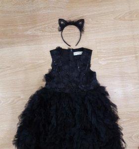 Детское платье на 7-10лет с ободком.