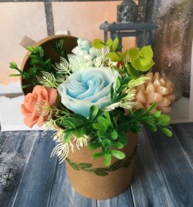 Букет цветов из мыла.