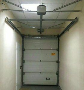 Ворота секционные с электроприводом б.у.