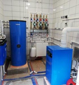 Монтаж систем отопления, водоснабжения, сантехника