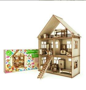 Домик для кукол с мебелью(новый)