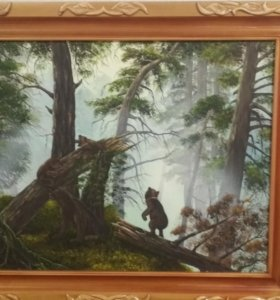 "Репродукуция ""Утро в лесу"""