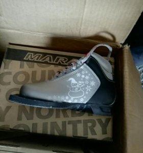 Лыжные ботинки,новые.