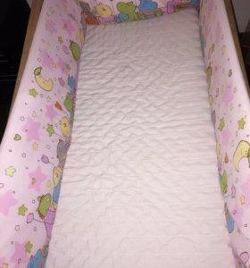Детская кроватка ikea с бортиками
