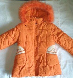 Пальто- куртка зимнее для девочки