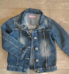 Джинсовая курточка на 3-4 года
