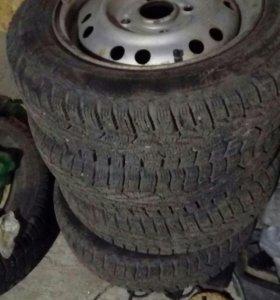 Зимний комплект колес на матиз