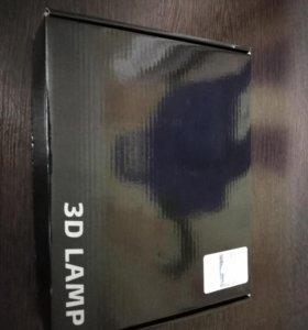 3D светильник бегемот