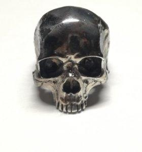 Кольцо череп серебро №2