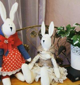 Куклы-зайцы ручная работа