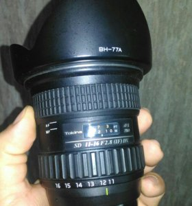 Объектив tokina 11-16mm f2,8.