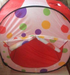 Палатка и много шариков