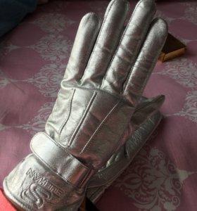Перчатки новые серебряные
