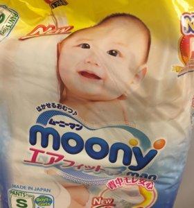 подгузники-трусики moony 4-8 кг