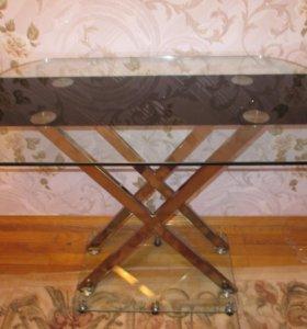 Стеклянный стол Пегас